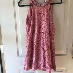 Candies pink lace dress size medium